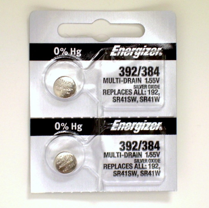 Transmitter Batteries - #392 Silver Oxide